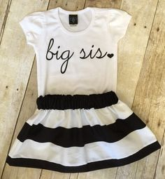 Girls big sis outfit, big sister shirt, little sister shirt, sibling shirts, pregnancy announcement shirt, baby announcement shir by WillowBeeApparel on Etsy https://www.etsy.com/listing/226425396/girls-big-sis-outfit-big-sister-shirt