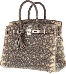 Luxury Accessories:Bags, Hermes Extremely Rare 25cm Ombre Lizard Birkin Bag with PalladiumHardware. ...