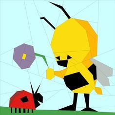PP Little Bee and Ladybird August Bitty Block