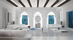 salon marocain, styl