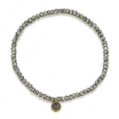 SUN MINI METEORITE Silver and Pyrite bracelet http://www.hariklia.com.au/ Satya Jewelry