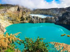 The color-changing lakes of Kelimutu Volcano in Flores, Indonesia.