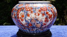 Good-19thC-Japanese-Imari-Type-Pumpkin-Form-Jardiniere-Fungus-Leaf-Mark