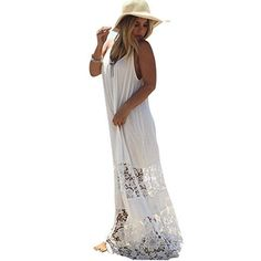 Amazon.com : Women's Bohemian Dress, AmyDong Women Maxi Boho Summer Evening Party Beach Dress Long Sundress (XL, White) : Garden & Outdoor #outdoorparty