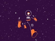 Astronaut 2019 new year speed walk cycle flat lobster studio hand drawn frame by frame illustration animation cosmos space universe stars leap focus walking astronaut Astronaut Drawing, Astronaut Illustration, Animation Stop Motion, Animation Reference, Motion Design, Gifs, Frame By Frame Animation, Drawing Frames, Design Poster