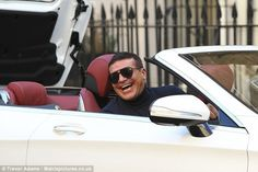 Top gear: The 48 year-old was spotted collecting a new supercar from Mercedes VIP in Manchester, where he's currently busy filming