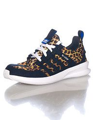 best loved 2567b df965 adidas Women s low top sneaker Lace up closure All-over leopard print Suede  accented adidas stripes Tongue with logo Cushioned inner sole