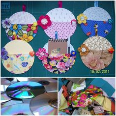 Nice idea - Note holders made from old CDs. Crafts With Cds, Kids Crafts, Recycled Cd Crafts, Old Cd Crafts, Diy And Crafts, Craft Projects, Arts And Crafts, Cd Diy, Cd Recycling