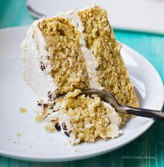 vegan coconut vanilla birthday cake! from Real Food Daily