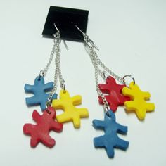 Autism Awareness polymer puzzle pattern by TheseBeadedDreams, $10.00