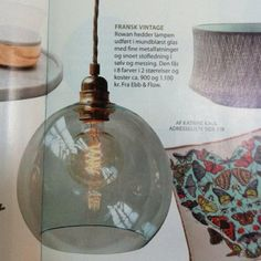 Press/Media: Femina, nr 22/maj 2013  Rowan Pendant lamps fra Ebb & Flow finder du her: http://www.houseofbk.com/Shop/ProductGroup/?shopid=827=889699