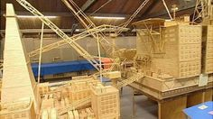 Replica of the Brent Bravo oil rig in the North Sea, completed in July 2009, by David Reynolds a retired oil rig worker, from Swaythling in Southampton.  This model broke the Guinness World Record for the largest matchstick model. It used over four million matchsticks.