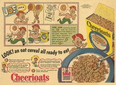 "Cheerioats Joe, the 1944 ""spokeskid"" for those crunchy little o's."