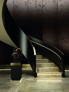 40 top 10 unique modern staircase design ideas for your dream house 29 Trump Tower, Interior Stairs, Home Interior Design, Architecture Design, Casa Retro, Painting Old Furniture, Balustrades, Wooden Steps, Modern Stairs