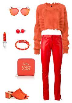 Red by anastasiya-nazarenko on Polyvore featuring мода, Unravel, Loewe, Tory Burch, Deux Lux, Christian Dior, Hring eftir hring and Chrysalis