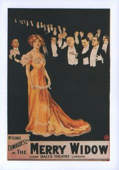 Theater Poster of Lily Elsie in The Merry Widow