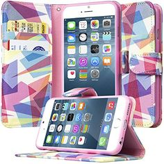 iPhone 6S Flip Wallet Case, Dimaka Design PU Leather Case...…