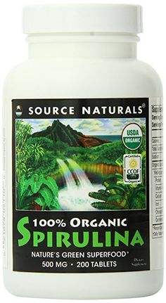 Source Naturals Organic Spirulina, a complete vegetarian protein and source of healthy essential fatty acids, is cultivated under strict USDA Organic regulations. http://www.pickvitamin.com/catalogsearch/result/index/?cat=&p=3&q=Spirulina