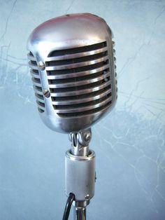 Vintage Shure Brothers 556 Microphone Elvis 1940's Rockabilly Old Antique | eBay
