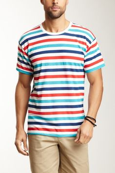 6831166ff685 American Apparel | Striped Tee | HauteLook. Striped TeeAmerican ApparelPolo  ShirtStripesPoloStriped T Shirts. Stripe Tee by American Apparel Men on