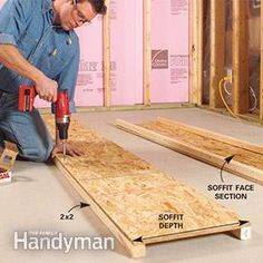 How to Finish a Basement Framing and Insulating & soffit framing for a finished basement around ductwork | DIY home ...
