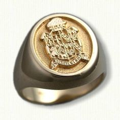 Custom Designed Signet Rings and Family Crest Rings- by deSignet International