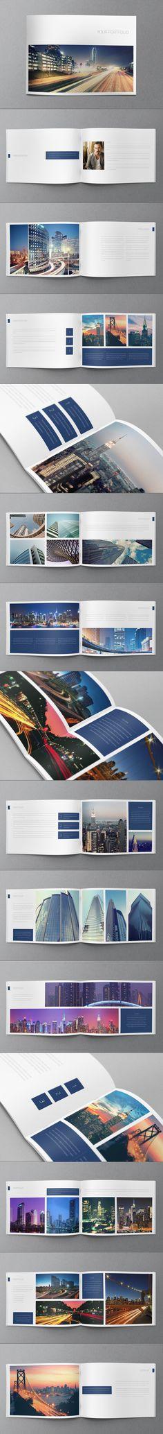Minimal Brochure Design by Abra Design, via Behance