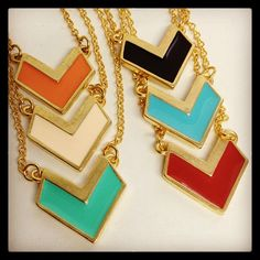 "New large chevron necklaces from our ""Art Deco"" collection. #melvin #jewelry #madeinusa #usa #americanmade #accessories #accessorize #necklaces #madeinamerica #chevrons #artdeco #comingsoon #sneakpeek #melvinjewelry - @melvinjewelry- #webstagram"