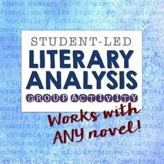 Pssssst hey, Teach. You shouldnt be the hardest working person in the room. Leave the choices, responsibility and learning up to your students then stand back and watch what happens. In this student-directed literary analysis activity, students become the teacher, closely reading and analyzing an assigned chapter of a novel, then teaching it to the class.