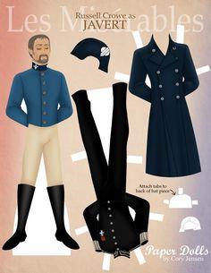 Les Mis (2012) | Les Misérables Paper Doll: Javert (Russell Crowe)