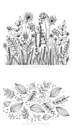 drawing ideas Doodle art and bullet journals go hand in hand. Discover 25 easy doodle art drawing ideas for your bullet journal. Learn how to draw the perfect doodle. Botanical Line Drawing, Floral Drawing, Botanical Drawings, Art Floral, Drawing Flowers, Simple Flower Drawing, Easy To Draw Flowers, Art Flowers, Botanical Prints