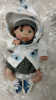 Ooak polymer clay baby art doll by sabrinasunshine123 | eBay