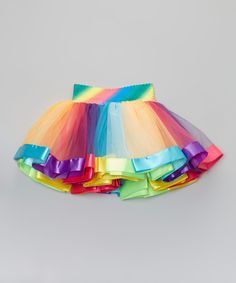Look at this Wenchoice Rainbow Stripe Tutu - Toddler & Girls on #zulily today!