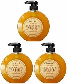 Perlier Honey Miel Liquid Soap No Soap  101 Fluid Ounces 300ml Bottles with Measuring Cap Pack of 3   Italian Import  *** Read more reviews of the product by visiting the link on the image.