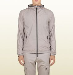 men's grey light matte stretch nylon jacket from vi ...150 Worth Avenue in Palm Beach FL