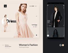 Store on Behance Mobile Ui Design, Web Ui Design, Responsive Web Design, Ui Web, Layout Design, Branding Design, Wedding Dress Websites, Fashion Banner, Ecommerce Website Design
