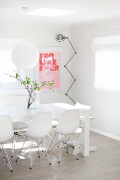 ★ dining room - white - for like ever - Eames chair