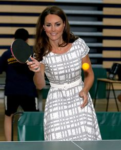 The Duchess of Cambridge, Kate Middleton, plays table tennis as she visits Bacon's College, before the Olympics, Looks Kate Middleton, Kate Middleton Prince William, Kate Middleton Photos, Pippa Middleton, Prince Harry And Kate, Prince William And Kate, William Kate, Duchess Kate, Duke And Duchess