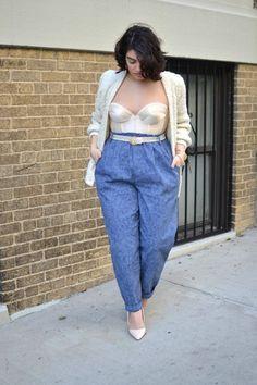 Curvy fashion: idee look (super fashion) per le curvy Look Plus Size, Plus Size Jeans, Plus Size Women, Plus Size Fashion Tips, Fashion Tips For Women, Plus Fashion, Fashion 2018, Petite Fashion, Womens Fashion