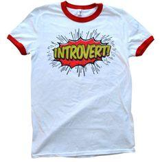'Introvert' Ringer Shirt
