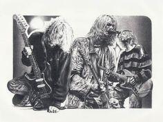 KURT COBAIN ORIGINAL SKETCH PRINTS - POSTER SIZE - BLACK & WHITE - FEATURES KURT COBAIN LIVE CONCERT. PRINT OF HIGHLY-DETAILED, HANDMADE DRAWING BY ARTIST MIKE DURAN   http://citymoonart.com/kurt-cobain-original-sketch-prints-poster-size-black-white-features-kurt-cobain-live-concert-print-of-highly-detailed-handmade-drawing-by-artist-mike-duran/