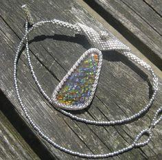 Ammolite and silver for Aurore