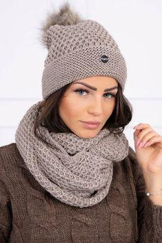 Dámsky béžová čiapka a šál vo veľkosti UNI Uni, Crochet, Fashion, Crochet Hooks, Moda, La Mode, Crocheting, Fasion, Fashion Models