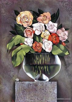 Bouquette by Ira Tsantekidou. Oil on Canvas, (Serie Nature Morte).