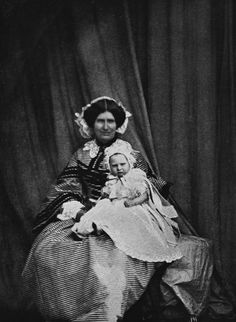 Leonida Caldesi - Princess Beatrice and Mrs Thurston, May 1858 [in Portraits of Royal Children Uk Prince, Young Prince, Prince And Princess, Prince Henry, Prince Albert, Baby Princess, Queen Victoria Family, Victoria Reign, Princess Victoria