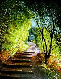 Chemin des douaniers, Cancale - France #path #stairs