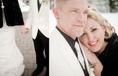 Matt Shumate Photography at Schweitzer Mountain winter wedding bride and groom happy, sweet