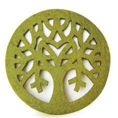 Olive Felt Placemats << #felt #coaster