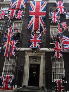 10 Downing Street, all dressed up!