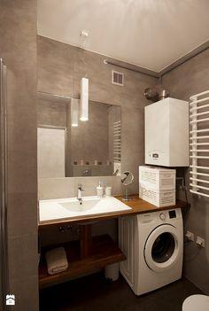 Mieszkanie dla młodych - Mała łazienka w bloku bez okna, styl nowoczesny - zdjęcie od Za murami za dachami
